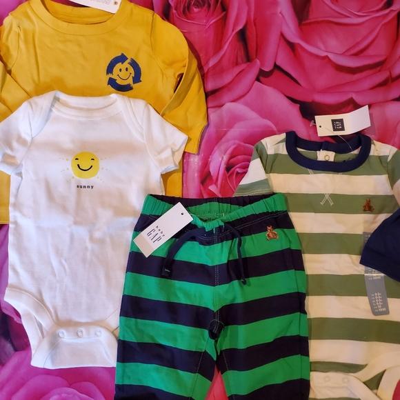 NWT Gymboree Baby Boys Lot of 2 Athletic Shorts Size 3-6 M